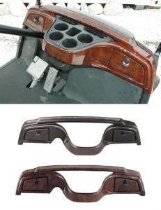 custom golf cart dash woodgrain carbon fiber